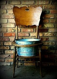 Old chair planter/cooler