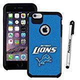 Apple iPhone 6 PLUS / 6s PLUS Case Phonelicious - Licensed NFL [Slim][Heavy Duty] Dual Layer Durable Hybrid Dynamic Shockproof Phone Tuff Cover & Stylus (DETROIT LIONS)