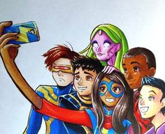 Marvel 3, Marvel Heroes, Captain Marvel, Marvel Universe, Marvel Comics, Ms Marvel Kamala Khan, Comic Art, Comic Books, Heroes For Hire