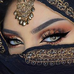 I love your lokk arabic eyes, cool eyes, pretty eyes, arab makeup, Arabian Eyes, Arabian Makeup, Arabian Nights, Exotic Makeup, Beauty Makeup, Gypsy Makeup, Unique Makeup, Makeup Style, Gorgeous Eyes