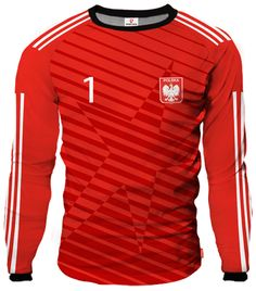 LIGA REAL Goalkeeper Jersey With Custom Name And Number red