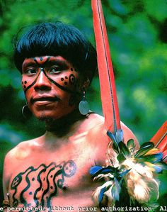 Brazil. Amazon rain forest. Yanomami indian.