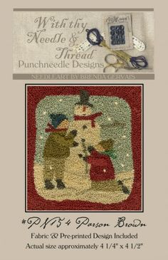 Parson Brown Snowman Punch Needle Pattern by With thy Needle & Thread