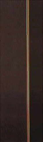 Composição Marrom ca. 1960 | Lothar Charoux acrílica sobre tela, a.a. 100.00 x 36.00 cm