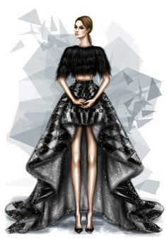 This illustration is of interest to me because of the flowy skirt and simple design.