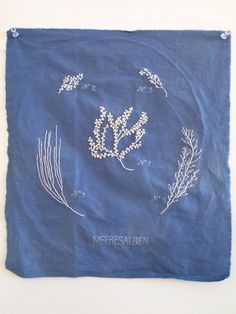 cyanotype-style embroidery #cyanotype #embroidery