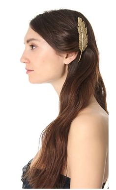 Pluie Feather Barette - Summer Hair Accessories #prom hairstyles