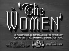 The women 1939 movie title