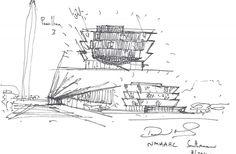 Firmado Dibujo David Adjaye Architecture For Humanity