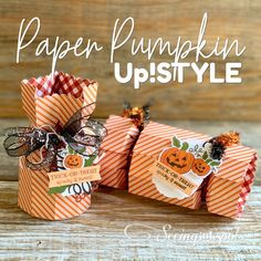 Seeing Ink Spots: Hello Pumpkin, A Paper Pumpkin Thing
