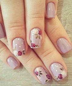 Decent Looking Flower Nail Art Designs #NailArt