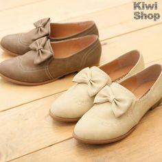 YESSTYLE: Kiwi Shop- Bow-Accent Oxford Flats, $29.95
