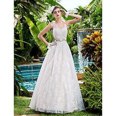Свадебное платье (Кружева А-силуэт В виде сердца До пола – RUB p. 9 143,39