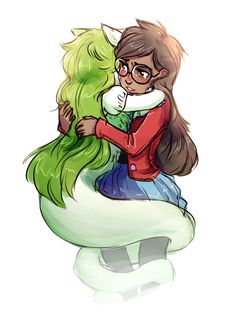 Jade and newly prototyped Jadesprite aw this is cute but after a while her crying gets annoying..