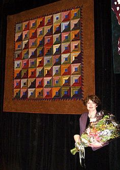 Diane and her award winning quilt made from Cherrywood. You are my inspiration!
