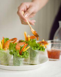 Shrimp Spring Rolls - http://www.sweetpaulmag.com/food/shrimp-spring-rolls #sweetpaul