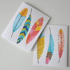 Feather Note Cards