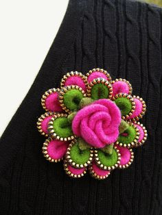 Felt and zipper pin