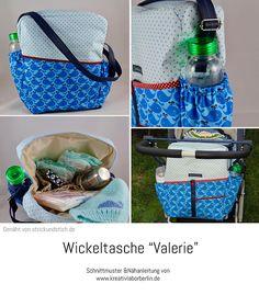 """Wickeltasche """"Valerie"""" genäht von Strick und Stich"""