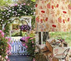 Optimism, Valance Curtains, Fabrics, Exterior, Floral, Design, Home Decor, Tejidos, Decoration Home