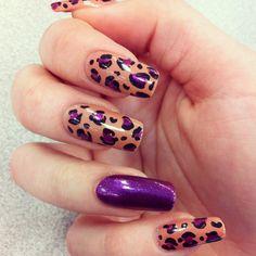 Purple glitter and leopard print
