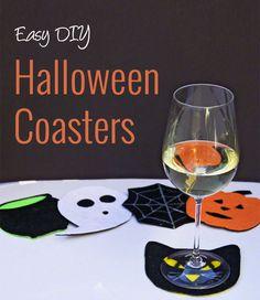 Halloween Craft - Felt Coasters