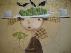 "Saatchi Online Artist: Yelena Dyumin; Acrylic, Painting ""Apple king in waiting"""