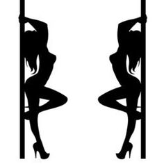 pole girl illustration dancer strip vector stripper silhouette sexy club
