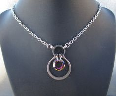 Stainless Steel Necklace Hardware Jewelry by BlackCatLinks on Etsy, $40.00