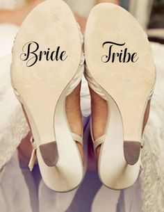 Bride tribe decal/ bride tribe sticker/ Bride decal / shoe decal / wedding decals / wifey decal / wedding date decal / custom decal / wedding sticker / wedding shoe sticker / bridal shoe/ wedding shoe decal / bride and groom stickers/ wedding prop / wedding decorations / decorations/ shoe decorations/ personalized decal / wedding gift / wedding stickers/ wedding accessories / gift for her / vinyl sticker / vinyl decal / gold foil decal / Etsy Wedding / etsy shop/ tie the knot