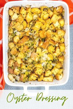 Seafood Dishes, Fish And Seafood, Thanksgiving Recipes, Holiday Recipes, Turkey Stuffing Recipes, Oyster Dressing, Toast In The Oven, Oyster Recipes, Fried Oysters