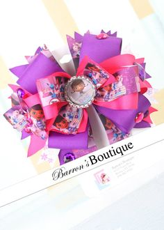 Inspired Doc McStuffins Hair Bow 2 by BarronsBoutique00 on Etsy, $8.50
