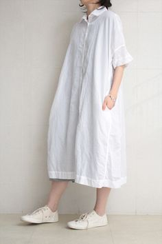 CASEY CASEY <br>LINEN DRESS WHITE