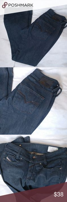 Diesel Louvely Darkwash Bootcut Stretch Jeans Very good condition. 14 waist, 7.5 rise, 30.5 inseam. Perfect jean to dress up or down.  If you have any questions, please feel free to ask. Diesel Jeans