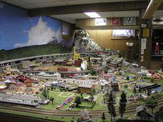 N-Scale Model Train Layout by swincott, via Flickr