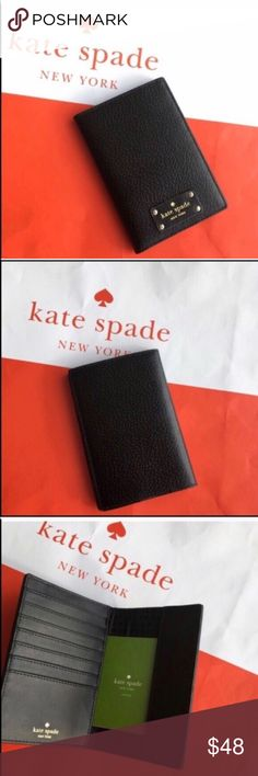 NWT 💯 Kate Spade passport holder with 💳 slots Brand new. No trade please kate spade Accessories Key & Card Holders