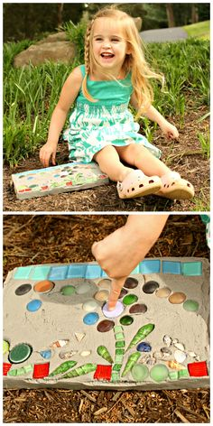 Weekday Crafternoon: How to Make a Kid's Garden Stepping Stone. I am definitely doing this when my son is old enough!!