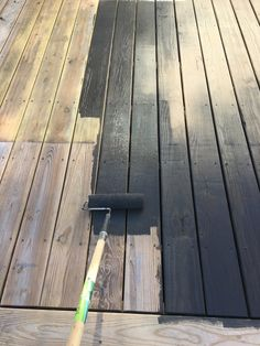 Dark stained deck — Plaster & Disaster - Home & DIY Grey Deck Stain, Wood Deck Stain, Deck Stain Colors, Deck Colors, Staining A Deck, Behr Deck Over Colors, Painted Wood Deck, Outdoor Wood Stain, Best Deck Stain