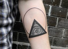 all seeing eye on arm by valentin hirsh