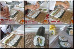 Maki sushi de ventresca de bonito, jalapeños y aguacate #sushi #recetas #comidajaponesa