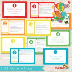 EYLF Outcome Cards EYLF Outcome Cards are great printed as photos. You can display them around your room or use … Play Based Learning, Early Learning, Early Education, Early Childhood Education, Teaching Strategies, Teaching Resources, Reggio, Eylf Learning Outcomes, Early Childhood Australia