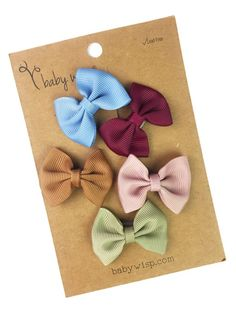 511ec933ec7a 5 Mini Latch Wisp Clip Classic Fan Out Bows Gift Set. Baby Wisp. Wispy HairFan  ...