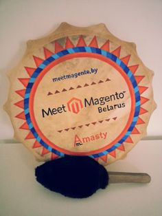 A Special gift from Meet Magento Belarus 2014 decorates our office #mm14by #meetmagento