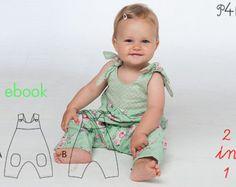 ON SALE PUPPY reversible Romper sewing pattern Pdf by PUPERITA