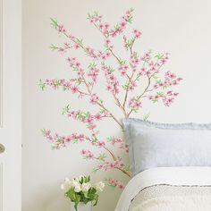 Brewster Home Fashions Euro Peach Branch Wall Decal Set