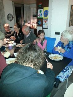 Etentje met de hele familie voor Jurgen zijn verjaardag.