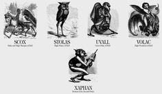 Chaosophia218 — Names of Demons from Collin de Plancy's...