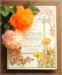 $Fleurs de Papier ~クラフトパンチや花紙で作る立体のお花いろいろ~-お花紙の花
