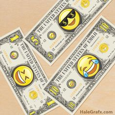 Free printable Emoji Play money
