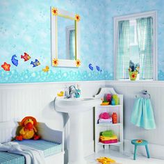 Themes For Bathrooms a darling, detailed sea-themed kids bathroom. @cheviotproducts